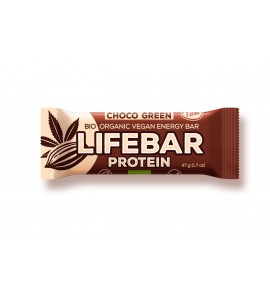 Super Sale Raw Organic Lifebar Protein Chocolate Green, 47g