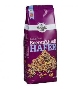 Bauckhof Oat Muesli Berries, gluten-free, organic and vegan, 450g