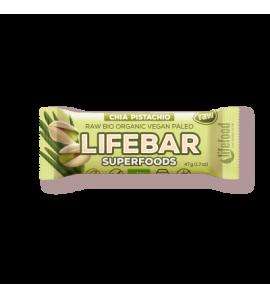 Super Sale Raw Organic Lifebar Superfoods Chia Pistachio, 47g