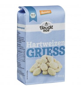 Bauckhof Griz durum, organski, veganski, bez šećera, 500g