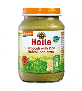 Holle Broccoli porridge with rice 190g, organic, vegan, gluten free