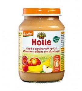 Holle Apple banana, apricot and porridge 190g, organic, vegan, gluten free