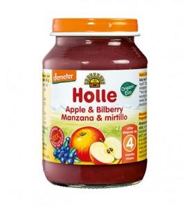 Holle Apple and blueberry porridge 190g, organic, vegan, gluten free