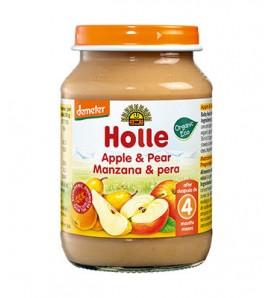 Holle Apple and pear porridge 190g, organic and vegan