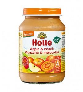 Holle Peach and apple porridge 190g, organic, vegan, gluten free