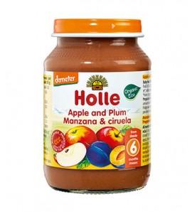Holle Apple and plum porridge 190g, organic, vegan, gluten free