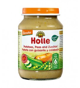 Holle Kašica tikvica i grašak sa krompirom 190g, organsko, vegan, bez glutena