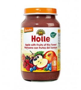 Holle Apple porridge and forest fruits 220g, organic, vegan, gluten free