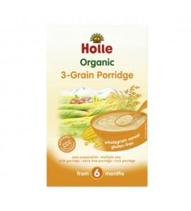 Holle Instant porridge three types of cereals 250g, organic, vegan, gluten free