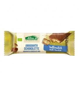 Allos, Amaranth chocolate bar 25g, organic