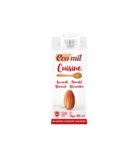 Ecomil, Almond cooking cream 200 ml, organic, vegan, gluten free