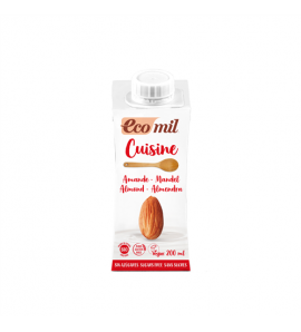 Ecomil, Krema za kuhanje badem 200 ml, organsko, vegan, bez glutena