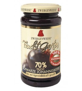 Zwergenwiese, Black Currant FruchtGarden sweetened with agave syrup only, 225 g