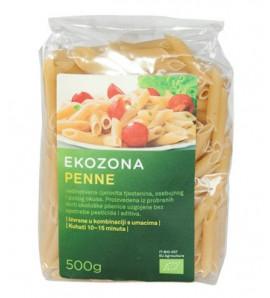Ekozona Pasta durum penne500g, organsko, vegan