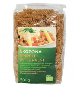Ekozona Pasta integral spirelli500g, organsko, vegan