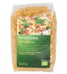 Ekozona Durum spirelli pasta500g, organic, vegan