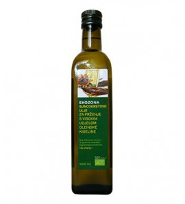 Ekozona Ulje suncokret za prženje 500 ml, organsko