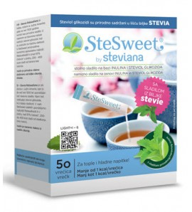 Stesweet Stevia prah s inulinom 50 kom