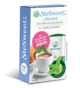 Stesweet Stevia in tablets 250tbl