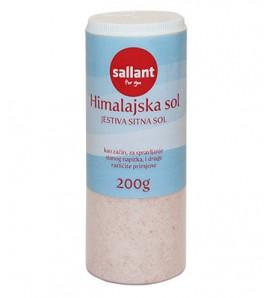 Sallant Himalayan fine salt in a dozer 200g