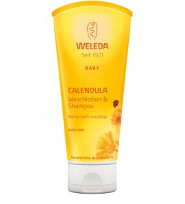 Weleda Calendula Shampoo & Body Wash, vegan, organic, 200ml